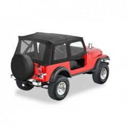 Bâche de remplacement Supertop Classic avec hauts de porte Bestop Jeep Wrangler YJ