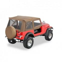 Bâche Supertop Classic avec hauts de porte Bestop Spice Jeep Wrangler YJ