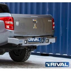Pare-chocs arrière aluminium Rival pour Mitsubishi L200 2015-2019