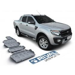 Blindages de protection aluminium Rival pour Ford Ranger T6