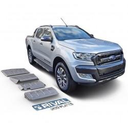 Blindages de protection aluminium Rival pour Ford Ranger T6-T7