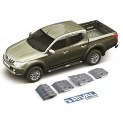 Blindages de protection aluminium Rival pour Mitsubishi L200