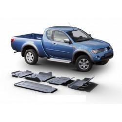 Blindages de protection aluminium Rival pour Mitsubishi L200 2006-2014