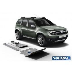 Blindages de protection aluminium Rival pour Dacia Duster