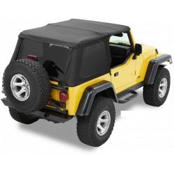 Bâche Trektop NX Black Denim Bestop Jeep Wrangler TJ 1997-2006