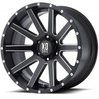 Jante aluminium KMC XD818 Heist Black Milled