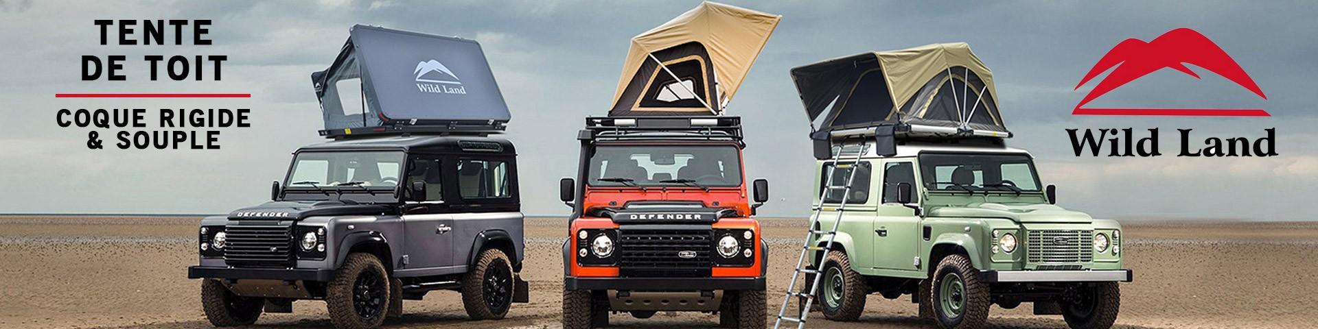 Accessoires4x4, les nouveautées : Tente de toit Wild Land Roll Top